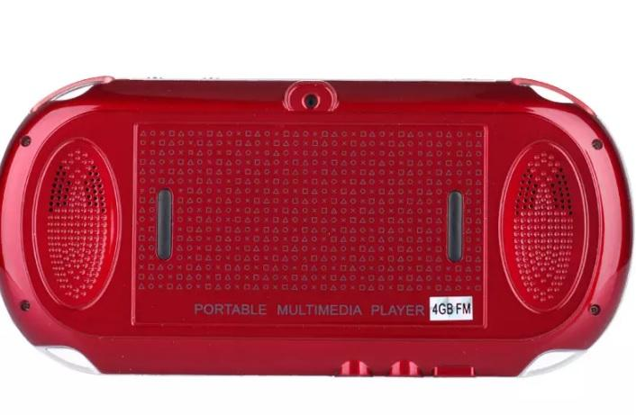 Mini console de jeu portative colorée portative 4G 8G 4,3 pouces joueurs de jeu MP4 MP5 avec l'appareil photo TV