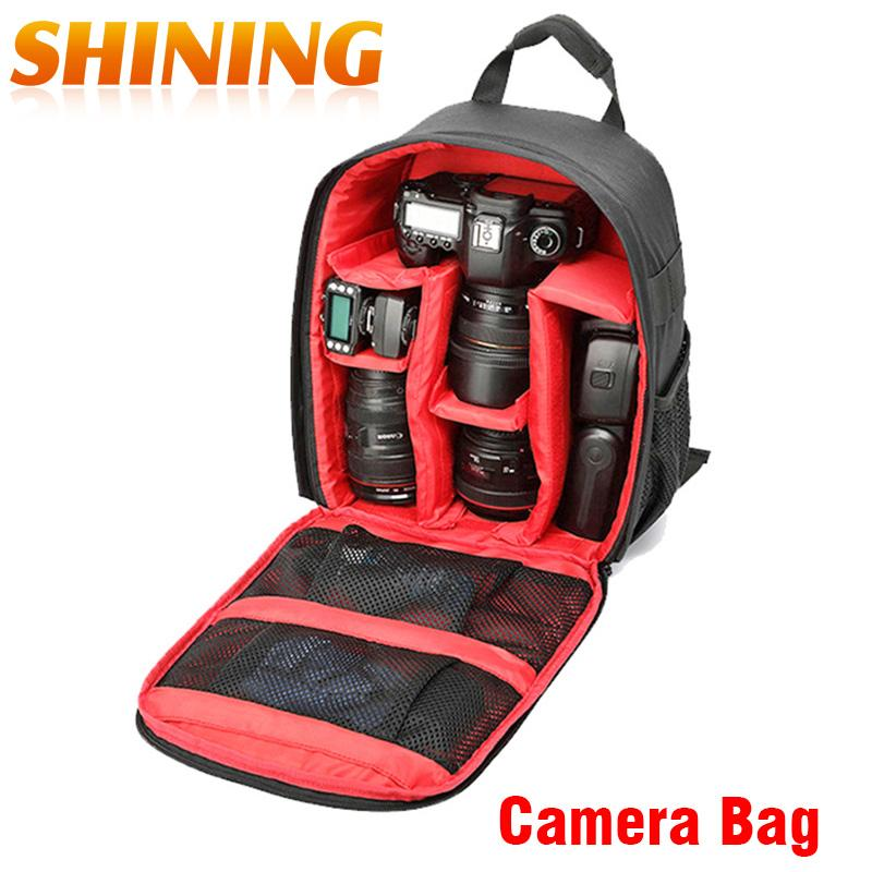 Backpack Camera Dslr Bag Multifunctional Digital Camera Bag SLR Camera Video Bag For D7100 Small Compact Camera Backpack