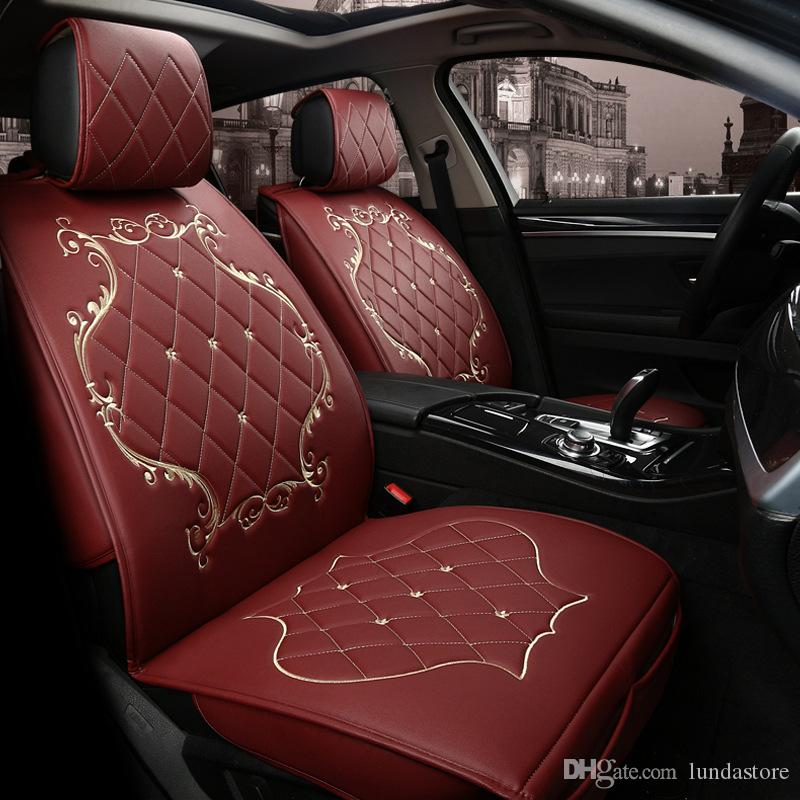Luxury PU Leather Car Seat Covers For Jeep Grand Cherokee Wrangler Patriot Compass Commander Styling Unique Automotive Accessories