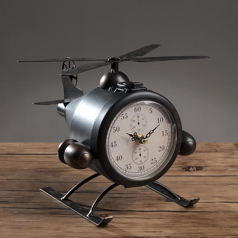 2018 Metal Retro Table Aircraft Clock The Diy Household Decor Airplane Desk Seat And Wine Bar Clothes From Natal 64 51 Dhgate Com