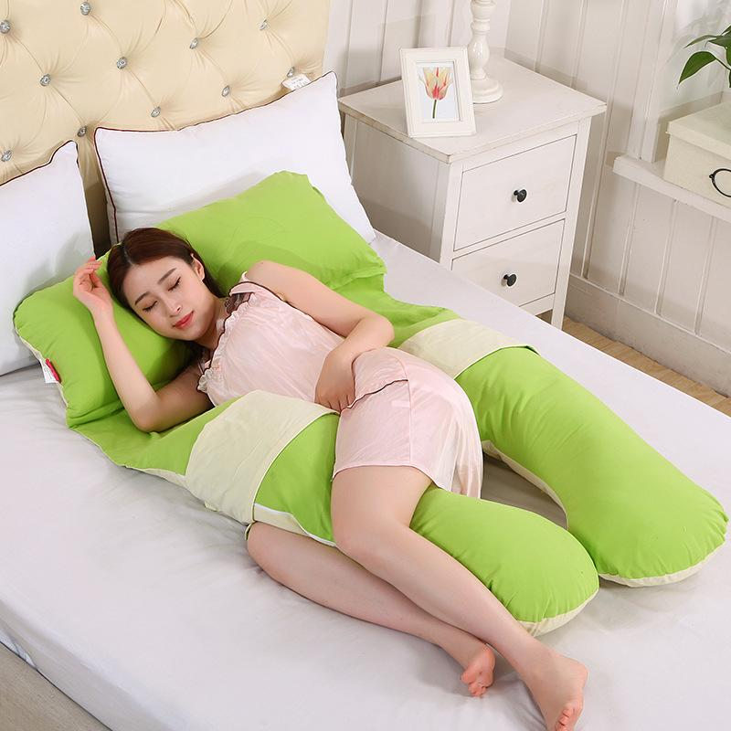 Super Soft Patchwork Body Pillow For Women U Shape Pregnant Pillow