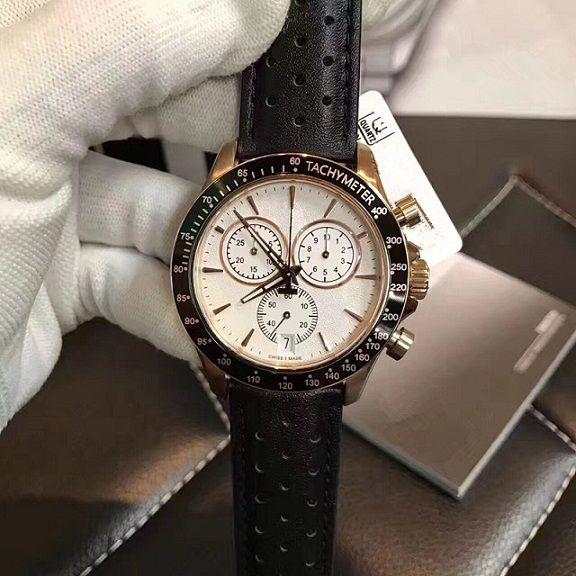 4c3351b6fe38c9 Fashion Men S Quartz Watch  Rose Gold Six Pin Series Waterproof Watch  High  Quality Leather Strap