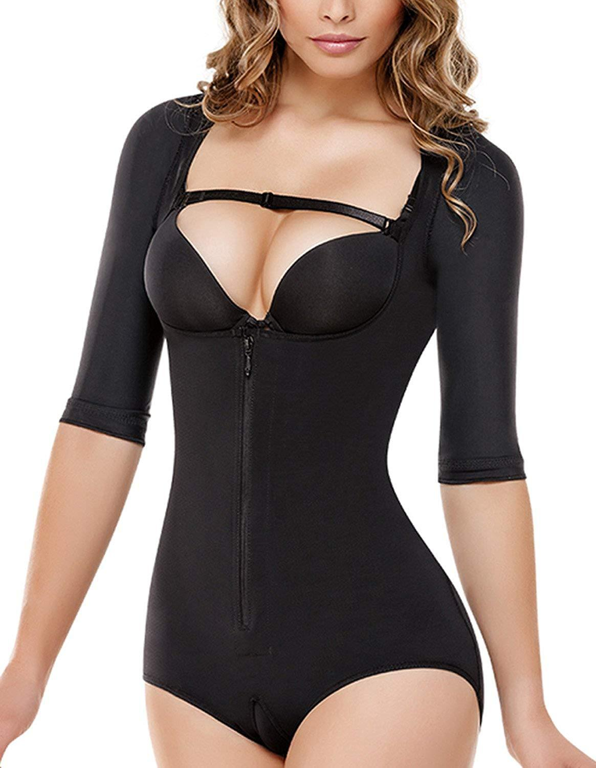 080220b7a8 2019 Hot Sale Women S Arm Compression Shaper Best Bodysuit Butt Lift ...