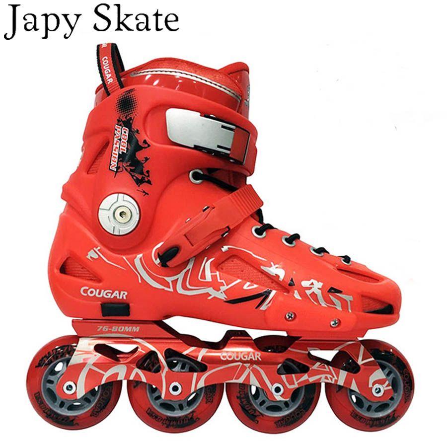 2454db0c02a Japy Skate Original Cougar MZS307 Slalom Inline Skates Roller Skating Shoes  Slalom Sliding Free Skating Shoes Patines Adulto