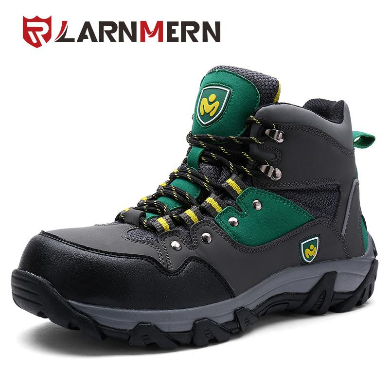 d609bec98bd LARNMERN Men Safety Shoes Work Steel Toe Boots Fashion Zipper Puncture  Proof Special Force Tactical Desert Combat Ankle Boats