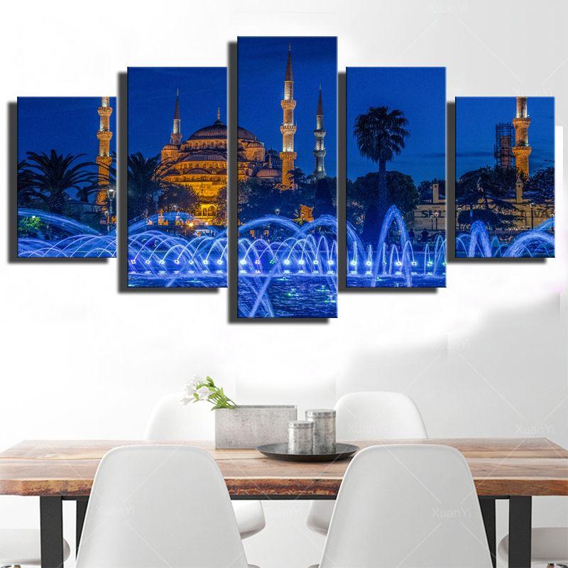 Satın Al Modern Baskılar Duvar Sanatı 5 Parça Islam Kiliseler Camii