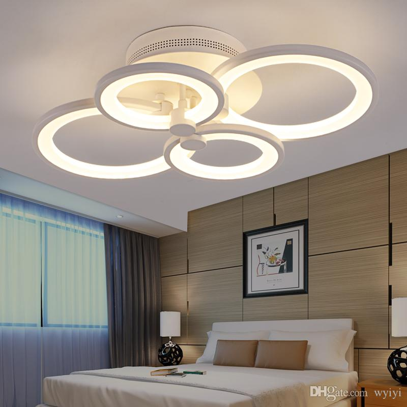 85-265v Modern Led Crystal Ceiling Lights Circle Chandelier Ceiling Luminarias Plafon For Bedroom Lamparas Techo Light Fixtures Ceiling Lights & Fans Lights & Lighting