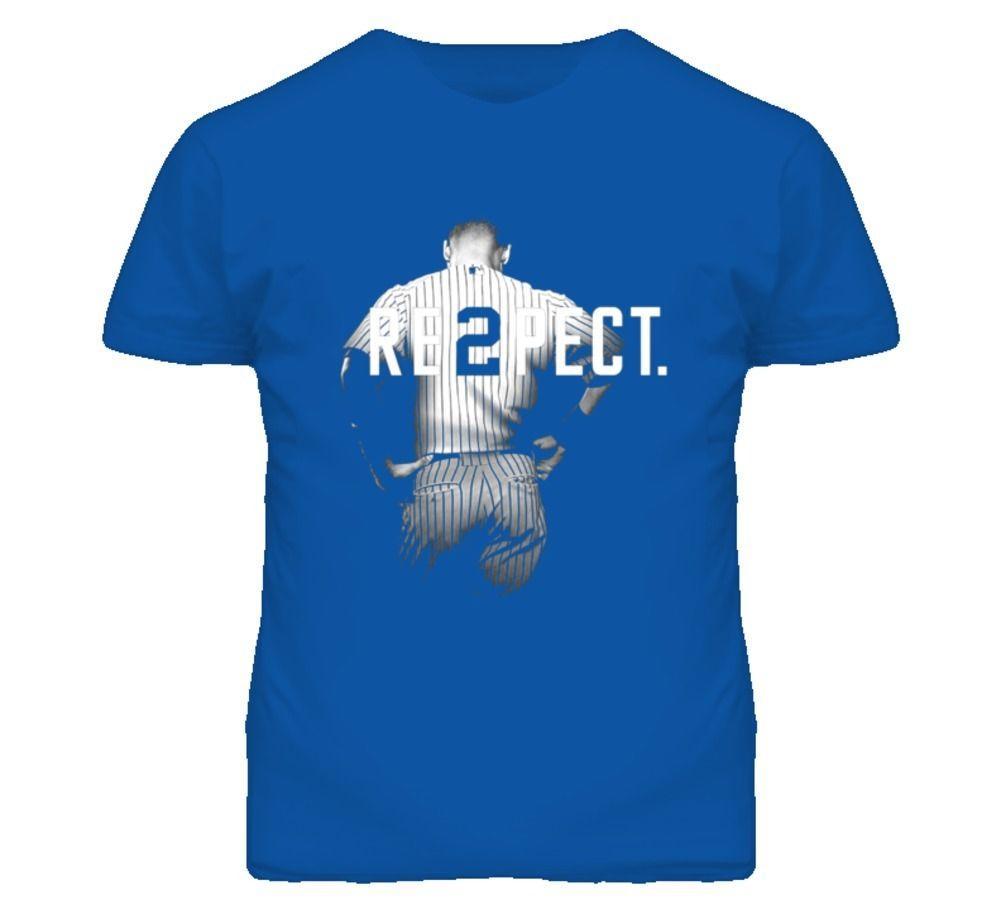 972f67bc Respect Derek Jeter Re2pect 2 On Back New York Uniform MJ Blue Baseball T  Shirt T Shirts Designer Funny Tee Shirt From Bstdhgate05, $11.01| DHgate.Com