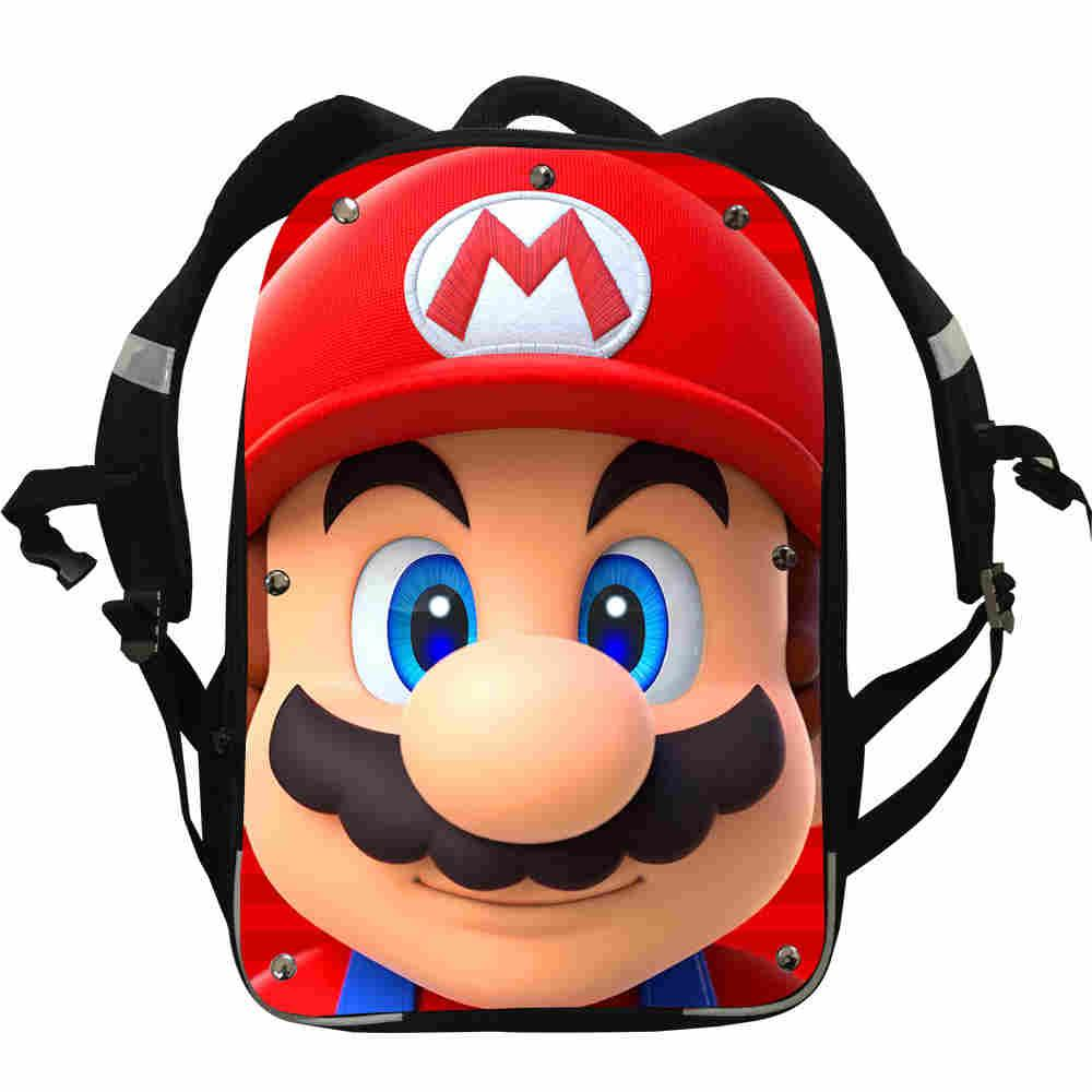 Super Mario Backpacks Animal Anime Starry Night Penguin Bear Boys Girls Teenager School Bags Box Lunch Pencil Case