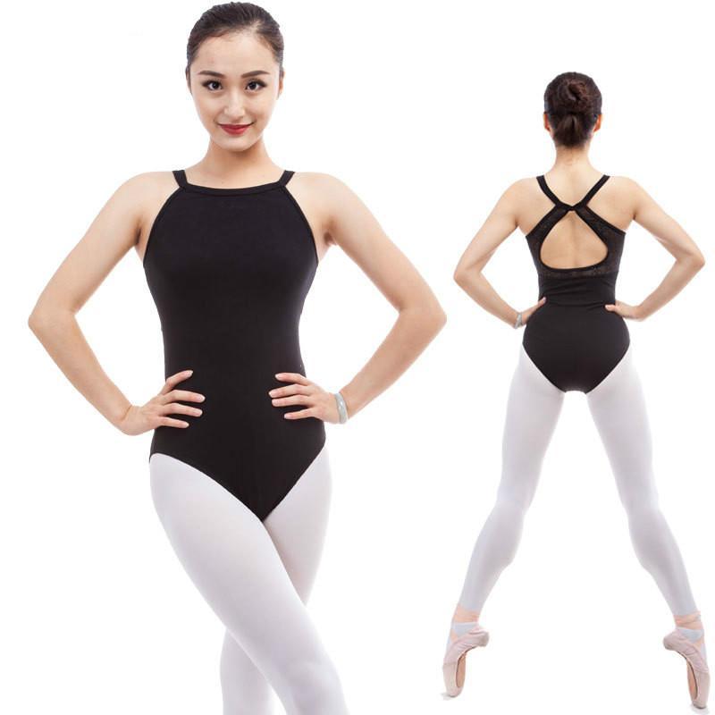 dPois Womens 2 Pieces Lyrical Asymmetric Contemporary Ballet Dance Dress Gymnastic Bodysuit Dancewear