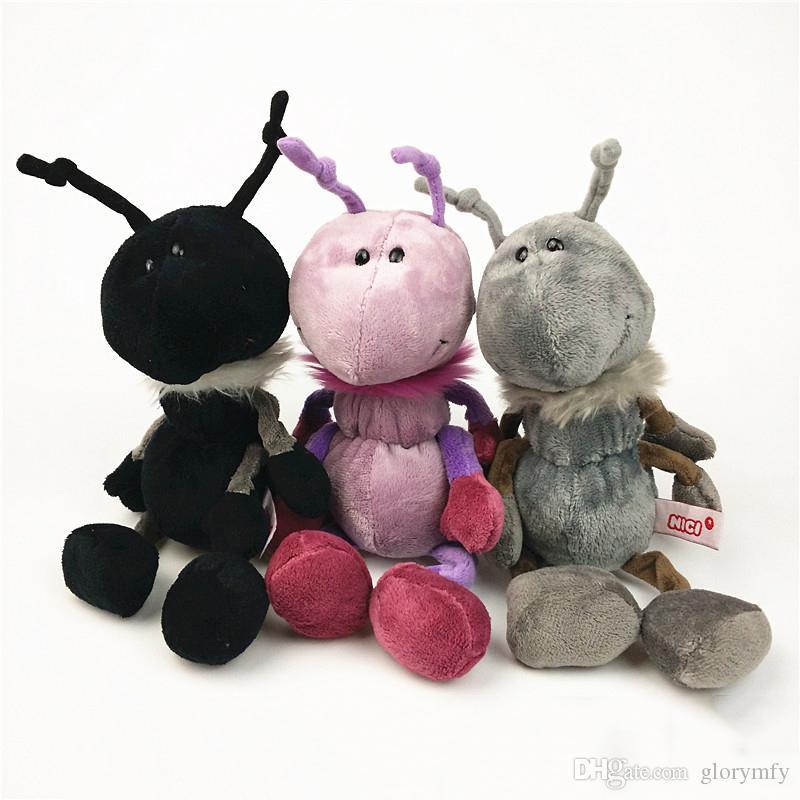 Tricolor Karınca Oyuncak Böcek Peluş Bebek Dolması Yumuşak Hayvan Doll Yüksek Kalite Çocuk Kız Erkek Çocuklar için Doğum Günü Hediyesi Oyuncak Hediye