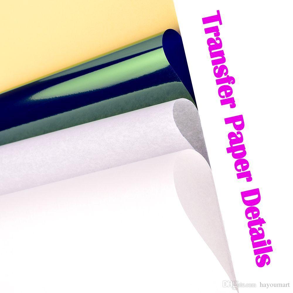 ورقة نقل الوشم 25 ورقة ورقة نقل الوشم استنسل الحرارية حجم A4 لآلات النسخ الحرارية مرفوعة