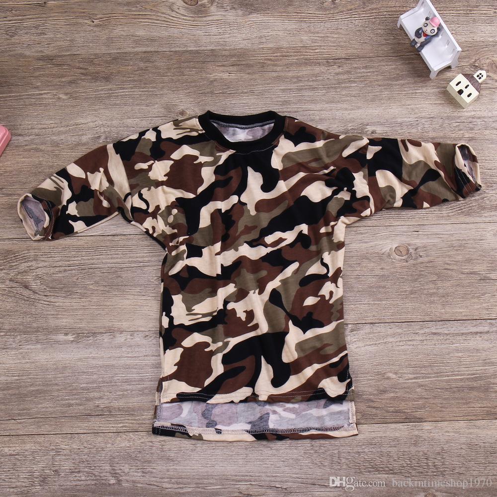 Designer Tarnung Baby-Kleidung-Kind-Kleidung-Mädchen-Sommer-Overall-Jungen-Mädchen-Baby-Pyjamas Set-Jungen-Kleidung Stile Knielange Kleider B1