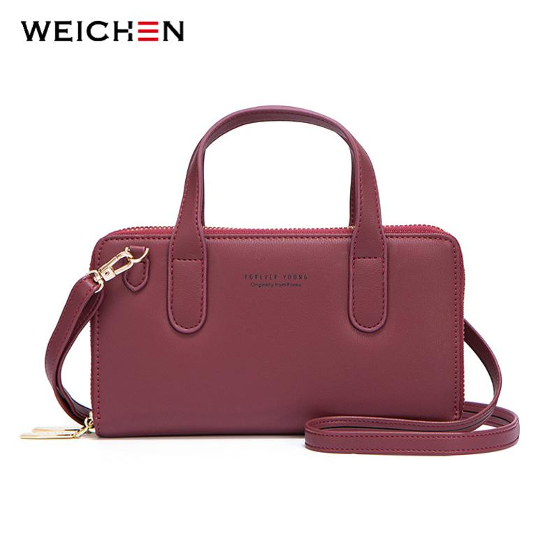 a94442b7f6aa WEICHEN Brand Messenger Bag Women High Quality Leather Mini Shoulder  Crossbody Tote Bag For Ladies Small Handbag Female Purse Shoulder Bags  Cheap Shoulder ...