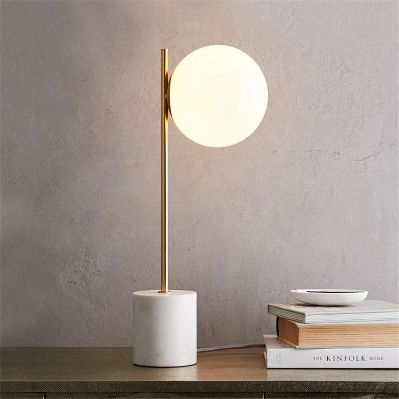 2019 Modern Table Lamp LED Glass Desk Lamp Study Room Reading Lights ...