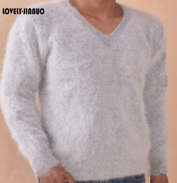 2019 2018 New Genuine Pure 100% Mink Cashmere Sweater Men Pullovers Brand  Clothing Men S Sweaters Wholesale Price JN279 From Cacy 00ca6d68a
