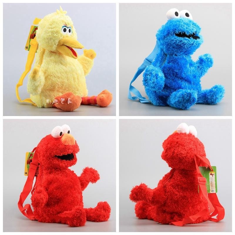12d1dc46300e Sesame Street Backpack 45cm Elmo Monster Cookie Bird Big Plush Backpack  Children S Shoulder Bag Baby Kids Birthday School Backpacks GGA1110  Discount ...