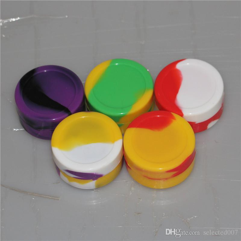 Nonstick Big Wax Containers silicone box Silicon container dabber 55*28mm 22ml food grade wax jars for dab storage rubber FDA approved DHL