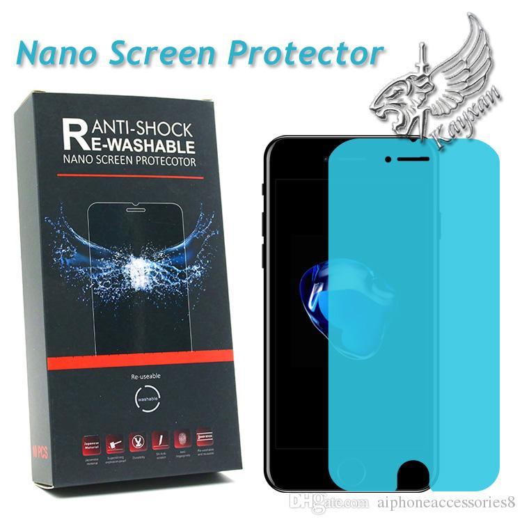 Nano TPU Film for Apple Iphone 7 Screen Protector Crystal Clear HD ... 2c1b16bd83