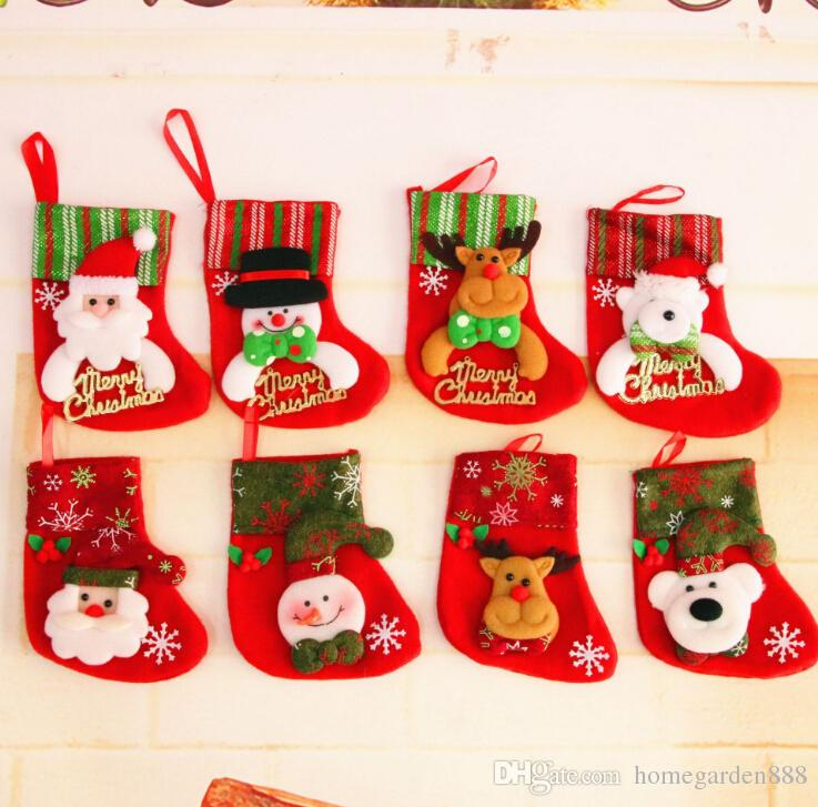 Applique Sequin Christmas Stockings Christmas Decoration Gifts Small ...