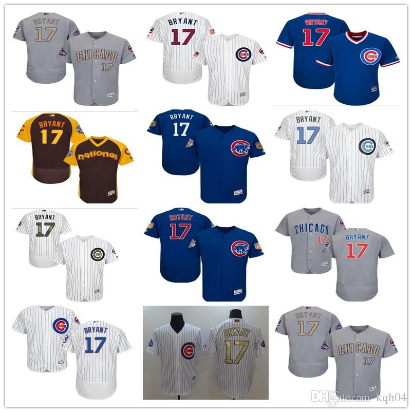 f675c60e1cc ... best factory authentic 041af feb85 2018 cubs jersey custom mens women  youth majestic chicago 17 kris