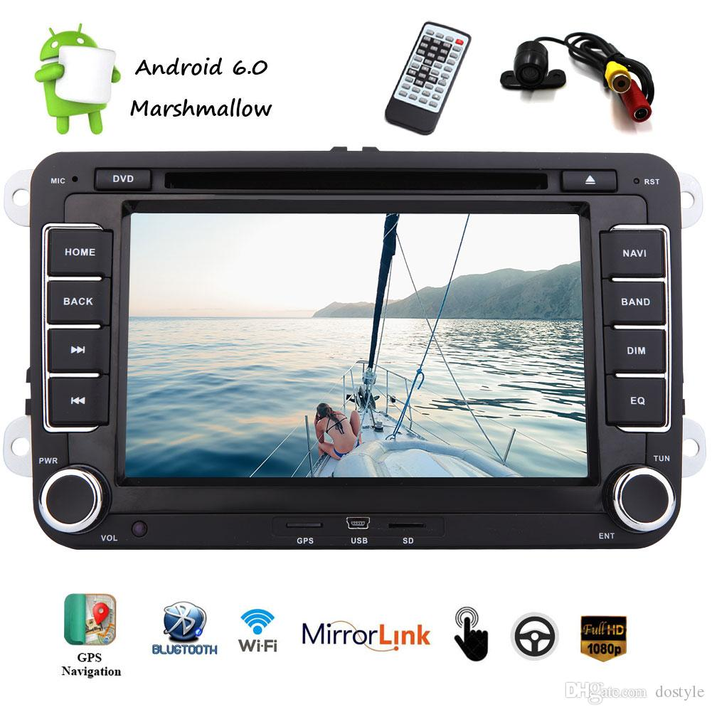 Backup Camera Android 6 0 Car Stereo Double Din 6 2 Capacitive