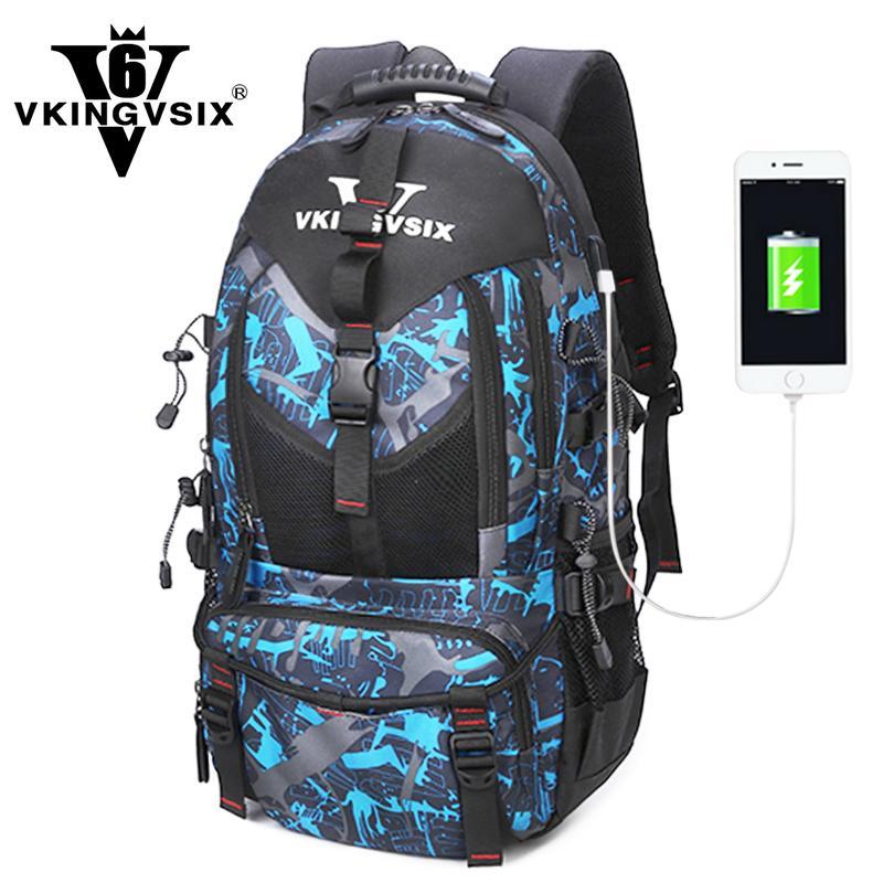 bb9c95fd86 Acquista VKINGVSIX Zaino Laptop USB 14 17 Pollici Zaini Scuola Impermeabili Adolescenti  Ragazzo Ragazza 1 6 Grado Donna Uomo Zainetto Zaino Mochila Y1890401 ...