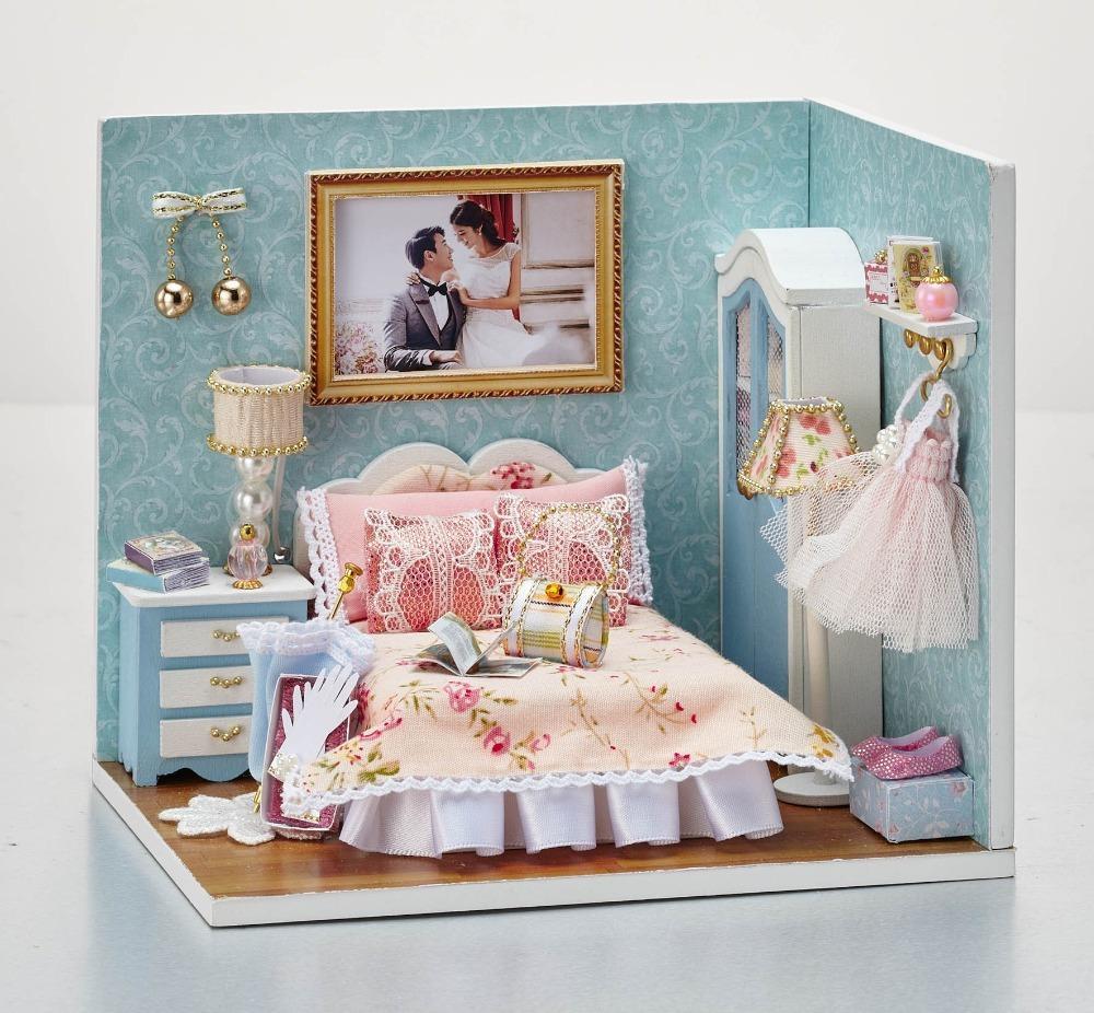 Diy Wooden Doll House Miniature Furniture Toy 3d Handmade Miniaturas ...