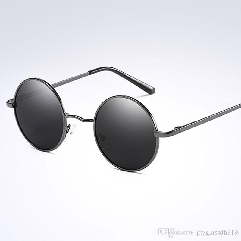 e0b034c5a89 Brand Design Fashion Round Glasses Polarized Sunglasses Unisex Frame Oval  Vintage Sun Glasses Round Sunglasses UV400 Black Lens Womens Sunglasses  Sunglasses ...