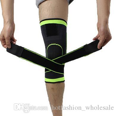 sangles pressurisées sport Genouillères Bandage jambe manches sport Guards sécurité Patella Tapis de basket-ball randonnée à vélo Kneecap Soutien