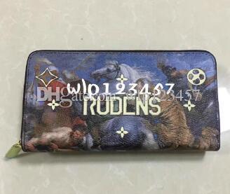 2018 Graffiti Color Pattern Hot New Product Best Brand Luxury Wallet Ladies Classic Handbag Wallet Fashion Wallet