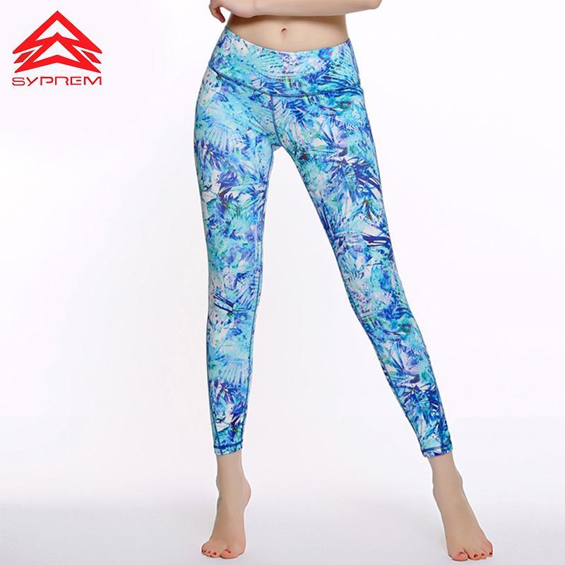5062a49104e 2019 Syprem Plus Size Yoga Leggings For Women Printing Workout Gym Running  Bottom Slim High Waist Training Clothing Sportswear