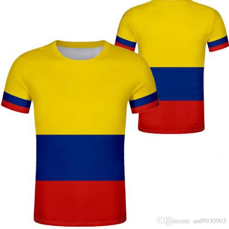 Colombia T Shirt Diy Free Custom Made Name Number Col T Shirt Nation ...