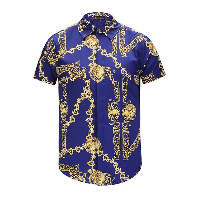 8c9d6129 Compre 1368ASA Nuevo Diseñador De Camisa Para Hombre Italiana Harajuku  Medusa Moda A Cuadros De Algodón Camisa Informal De Manga Larga Para Hombre  M XXL A ...