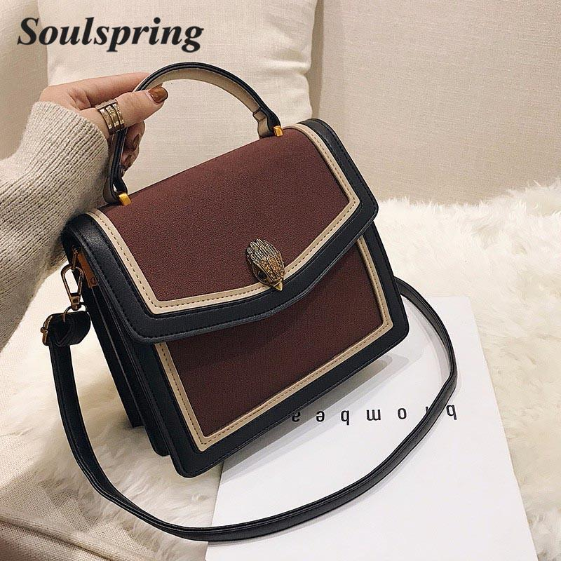 4023a32ccaf2 Women S Shoulder Bags Messenger Bag Handbags PU Leather Buckle Hit Color  Fashion Simple Versatile Shopping Dating 2018 New Hot Satchel Laptop Bags  From ...