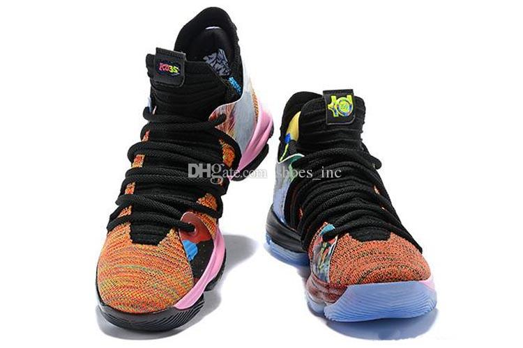 f78c983421eb 2019 2018 New Arrival What The KD X 10s Ice Blue Pink Green Sports  Basketball Shoes 10s Kevin Durant 10 EP Athletic Sneakers US 7 12 From  Shoes inc