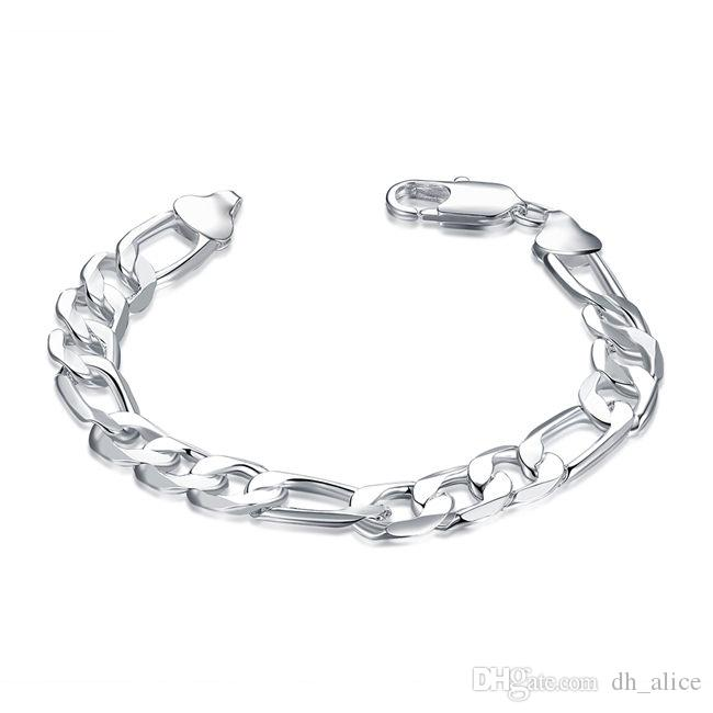 178ce3b197774a 2019 Ee One Hand Chain Male Sterling Silver Plated Bracelet ;Hot Sale Men  And Women 925 Silver Bracelet SPB202 From Dh_alice, $4.68 | DHgate.Com