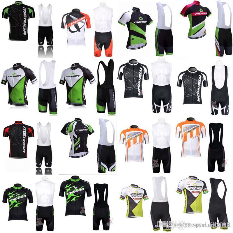 2018 MERIDA Cycling jersey Summer Cycling clothing Ropa Ciclismo Bicycle Mountain Bike Bib Shorts Set maillot Ciclismo Maillot 3302
