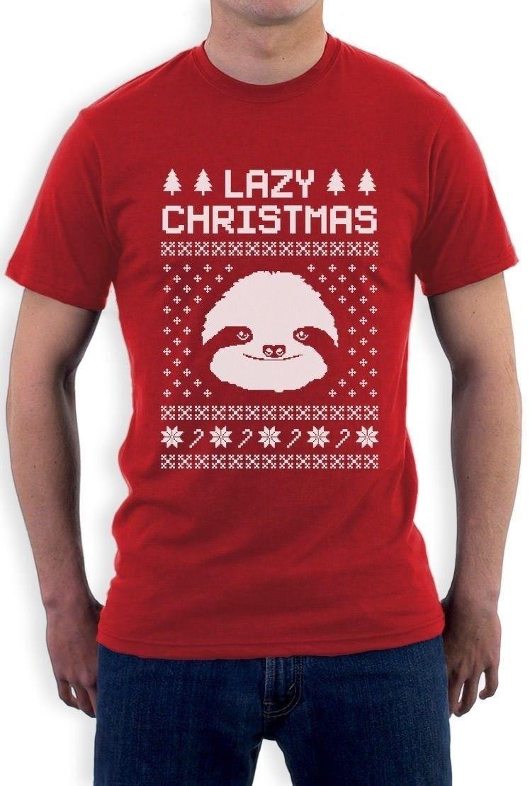 Sloth Christmas Sweater.Big White Sloth Face Lazy Ugly Christmas Sweater Funny T Shirt Gift Idea