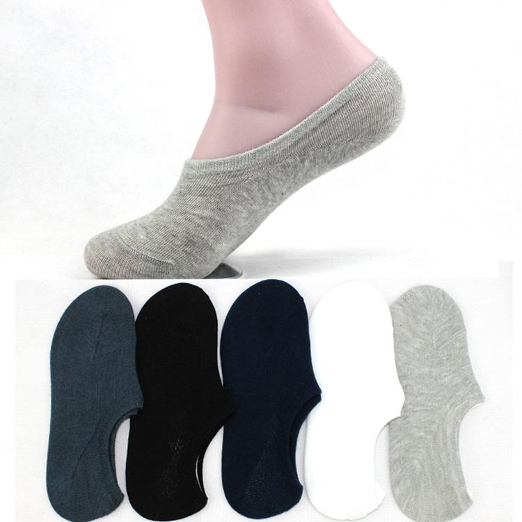 New summer low waist short tube men's stealth shallow socks cotton socks peas shoes casual solid color silica gel men's socks