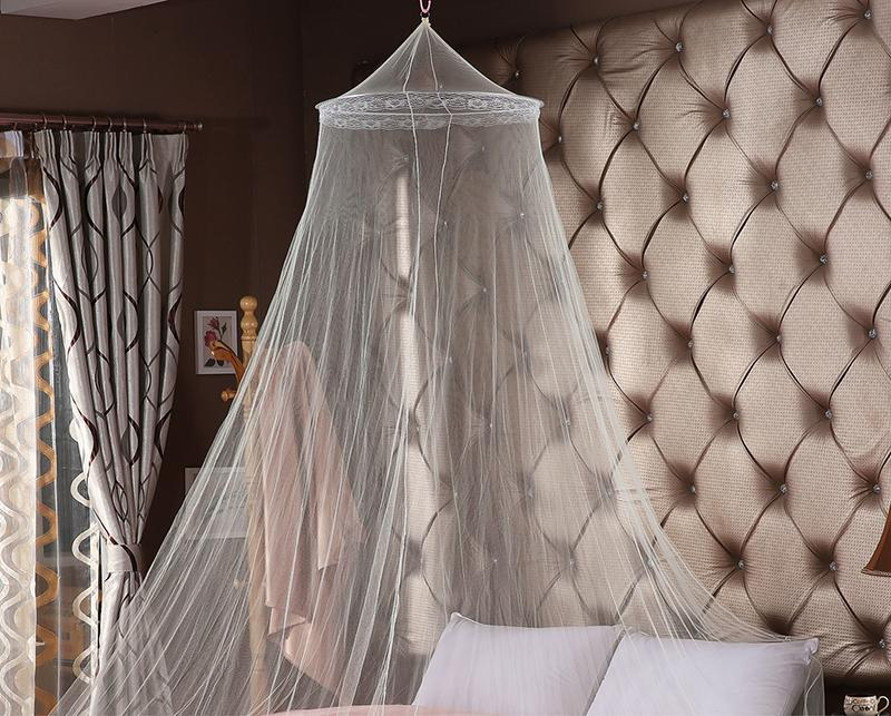 2018 Elegant white Mosquito Net vaulted Double Bed hung dome Mosquito Repellent Tent Insect Rejection Canopy Bed Curtain Bedding Supplies