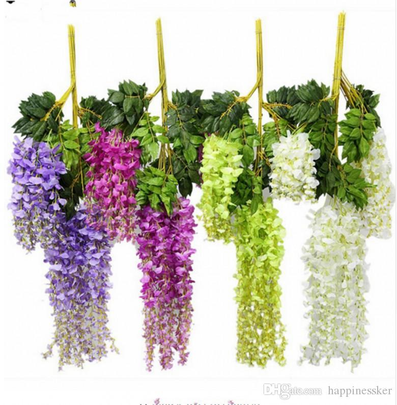 Festive & Party Supplies Artificial Flower Vine Cherry Blossom Diy Wedding Home Holiday Layout Garland Christmas Decor Fake Silk Flower Rattan Wisteria