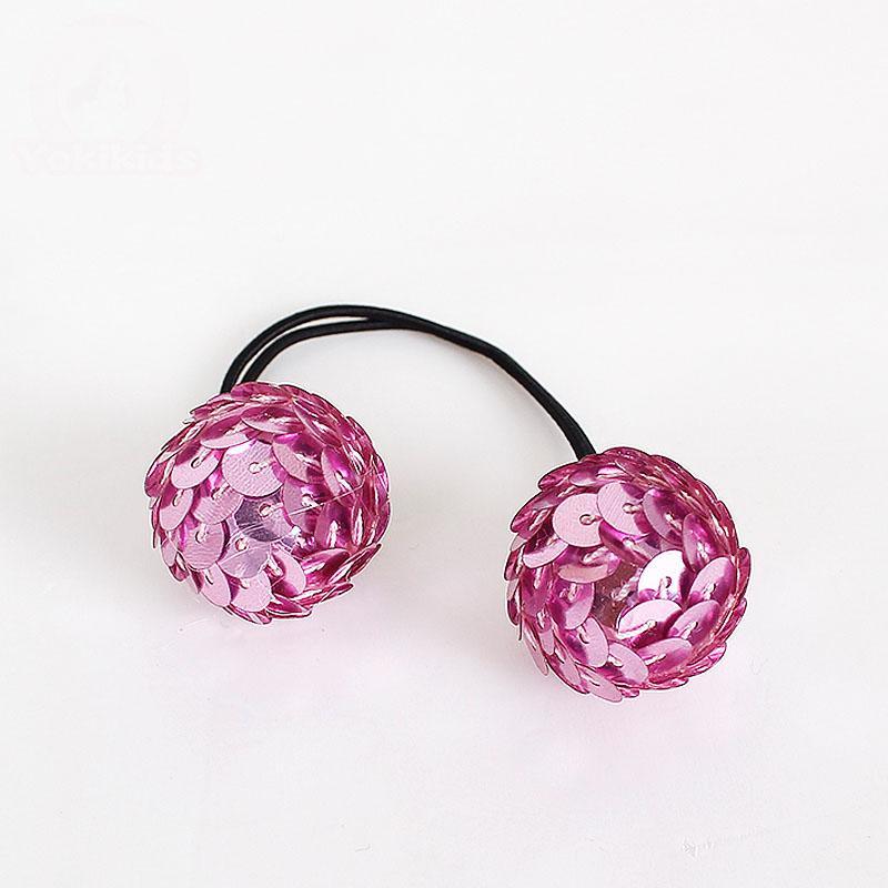 Pretty Dots Elastic Hair Tie Hairband Rubber Band Ponytail Holder Bracciali Glittle Ball headwear accessori capelli H24