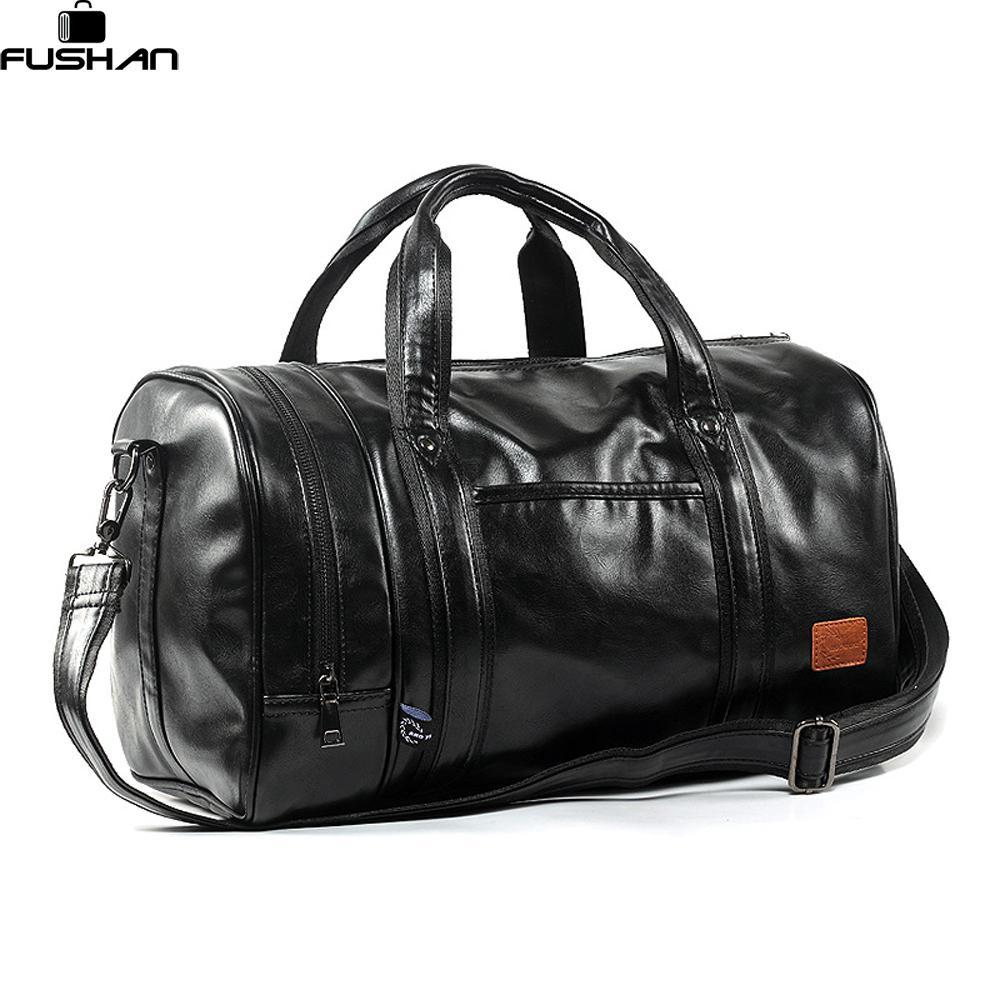 ebb95ec82f Large Capacity Leather Men S Travel Bags Vintage Handbags Shoulder Bag Big Men  Luggage Bag Deodorant Separate Shoe Compartment Personalized Suitcase ...