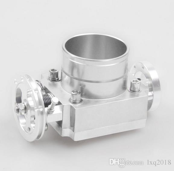 90mm Corpo Do Acelerador Universal Liga De Alumínio De Corrida CNC Billet Intake novo carro