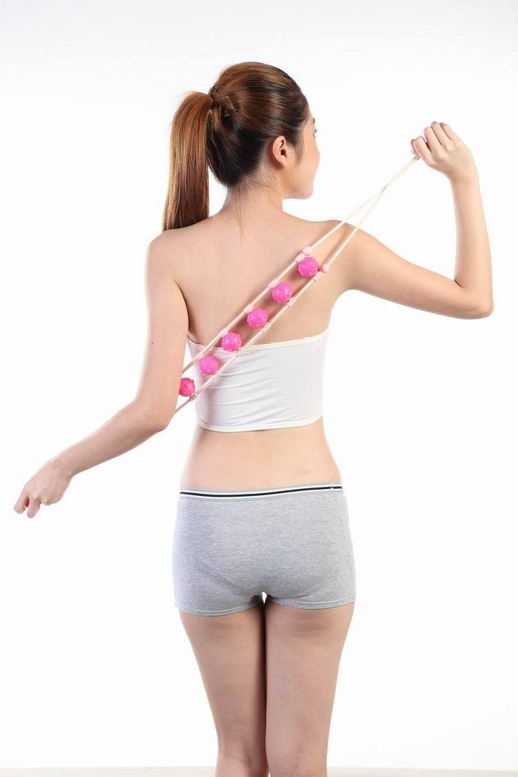 All in One Roller Belt Massager for Slimming Back Waist Beauty Belt Massage Tool Multi-Effect Waist Shoulder Massage Roller Pull Back Device