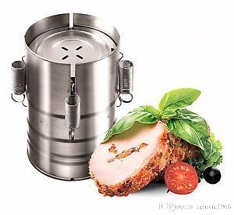 Meat Tools Stainless Steel Cooking Hamburger Make Small Kitchen Poultry 3 Layer Adjustable Ham Press Maker Hot Sale 31mc V