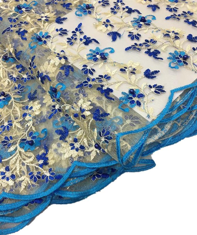 Hot New Sewing Flower African Lace Fabric Use for Clothes High Quality Latest Summer Lace Dress Designs women party Dresses