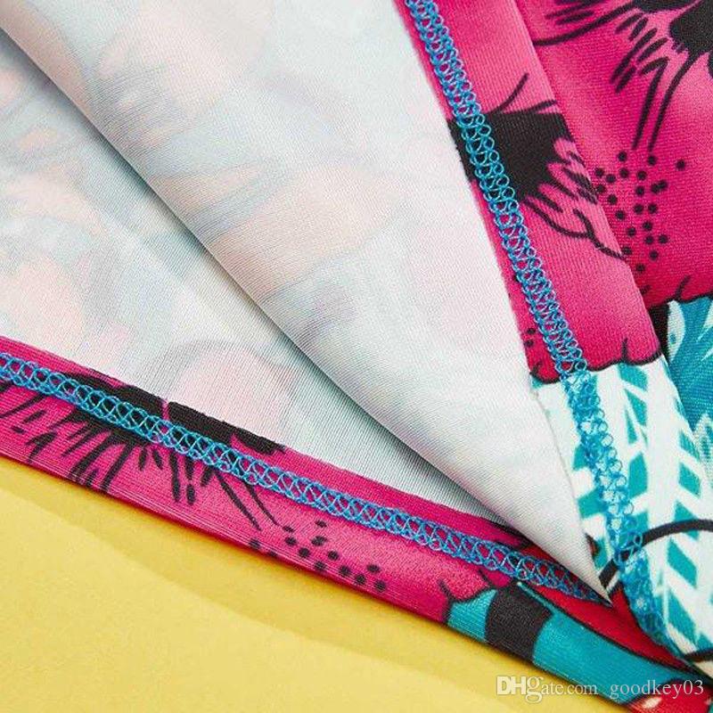 2018 النساء ملابس السباحة متماسكة tankini ليوبارد طباعة بيكيني مجموعة رفع الرياضة بحر المايوه الأزهار المايوه مثير