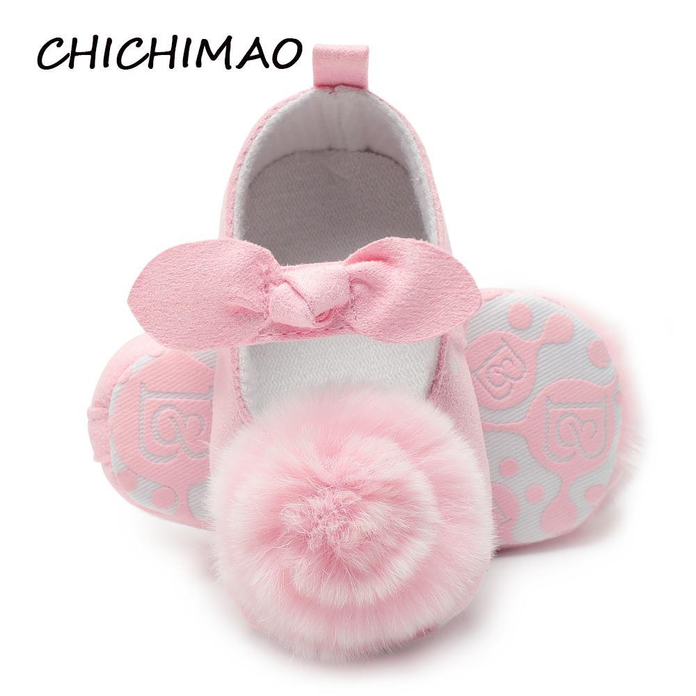 premium selection 52a49 7ae3a Prinzessin Baby Schuhe Große Blume Bogen Baby Mädchen Jungen Weiche Sohle  Prewalker Anti-slip Schuhe Erste Wanderer Neugeborene 0-18 Monate